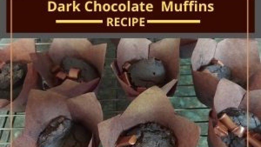 Yummy Dark Chocolate Muffins