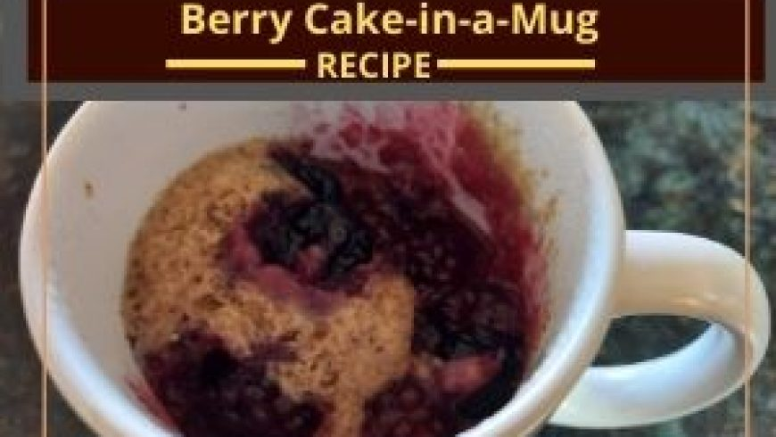 Berry Cake in-a-Mug
